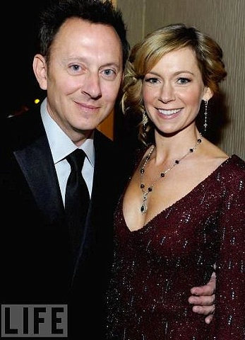 Carrie Preston from True Blood and husband Michael Emerson from Lost at the 12th annual Designers Guild Awards