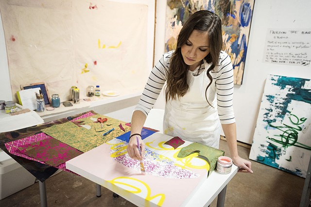 "Headline: ""Ellwood City artist's Latin American influenced work gaining attention"""