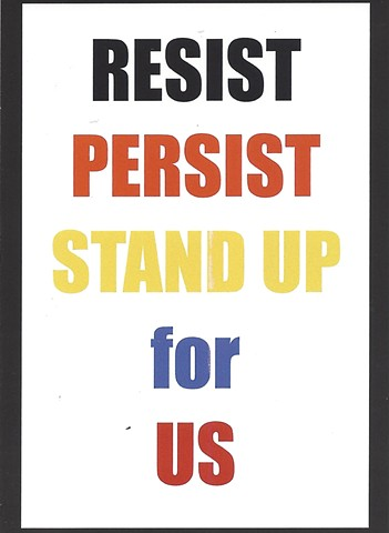 RESIST PERSIST STAND UP card