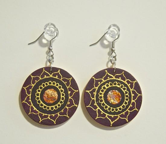 Hand painted earrings