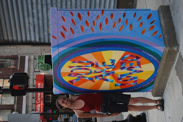 """""""You are Loved"""" Utility Box Project Final front/side view"""