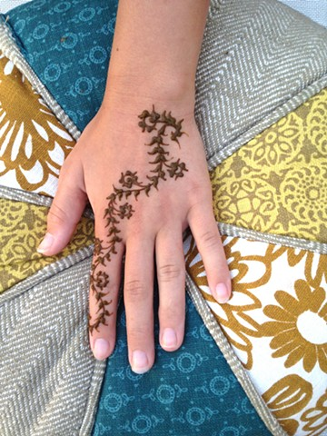 Henna Hand with floral trail