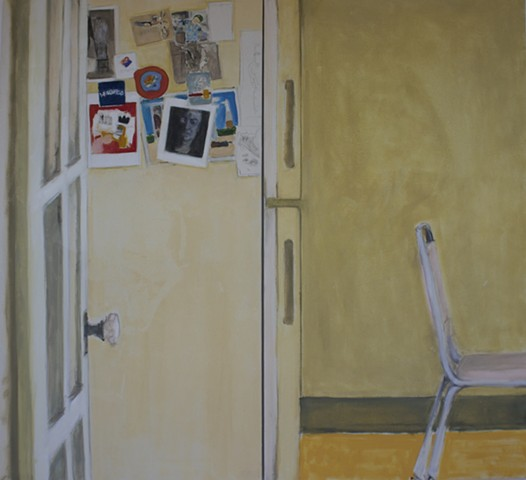 untitled interior (pink chair)