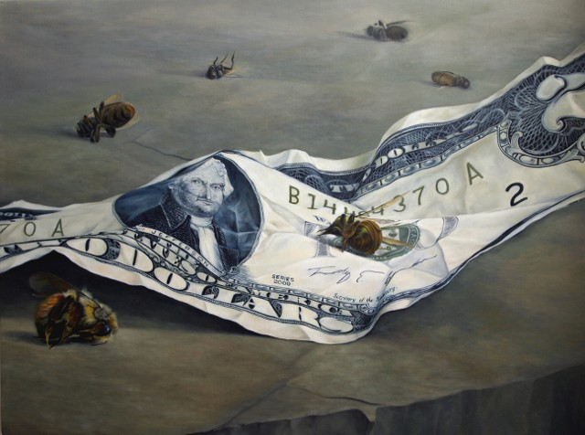 jeffreysims, jeffsims, bees, economy, blackartists, blackpainters, still life painting, america, workers, still-life painting, contemporary still-life, Thomas Jefferson, Jefferson, slaves, prosperity, painting
