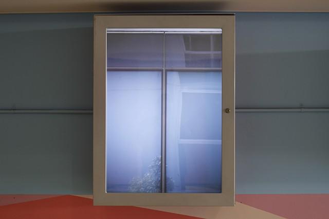 Lance Ward plane transparency light locker city of Perth trees bushes duxton cityscape window hard edge abstraction