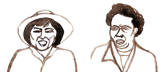 Bella Abzug, Congresswoman, Civil & Labor Rights Lawyer, Anti-War Activist, 1971 and Hattie Canty, Union Leader, 1990's