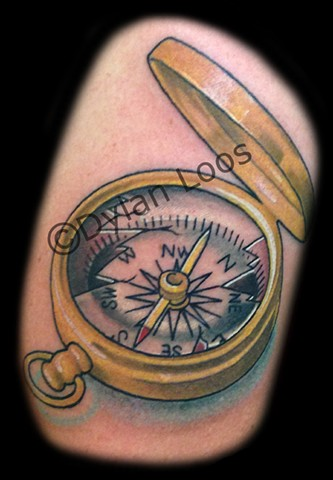 the blind tiger tattoo phoenix arizona dylan loos art compass color