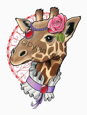 the blind tiger tattoo phoenix arizona dylan loos art giraffe victorian
