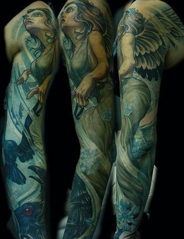 Raven tattoo angel tattoo eric james tattoos phoenix arizona