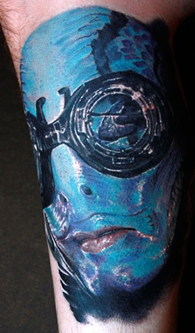 Abe Sapien, Hellboy, Tattoo, Phoenix Tattoo, Art, Artist, Arizona, Best Tattoo