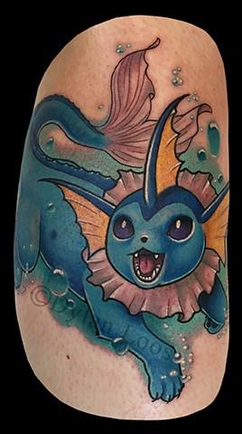 dylan loos art dloosart tattoo phoenix arizona az pokemon go vapor eon color leg water
