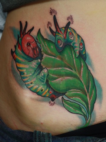 caterpillar tattoo eric james tattoos phoenix arizona blind tiger tattoo