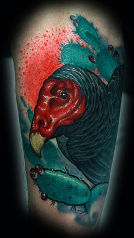 vulture tattoo cactus tattoo eric james tattoos blind tiger tattoo phoenix arizona