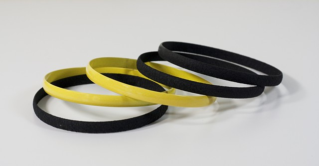 Small Black and Yellow Bangles