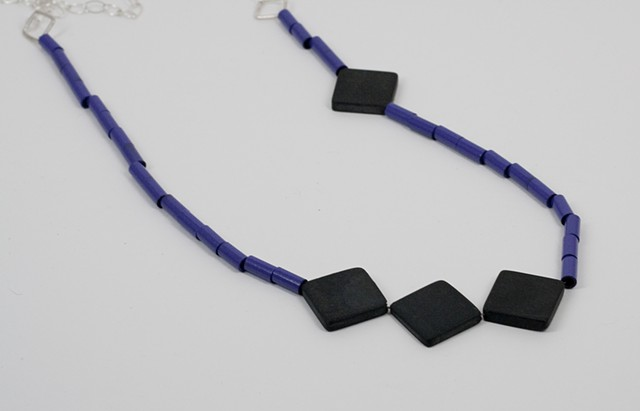 Purple and Square Onyx with Silver