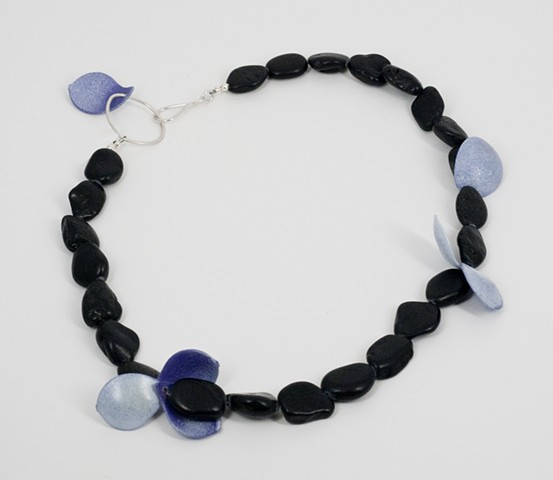 Purple and White with Beach Pebble