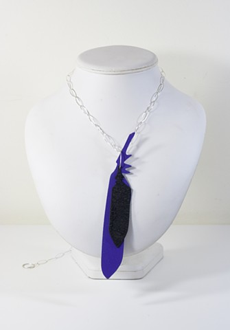 Purple and Black with Silver Chain