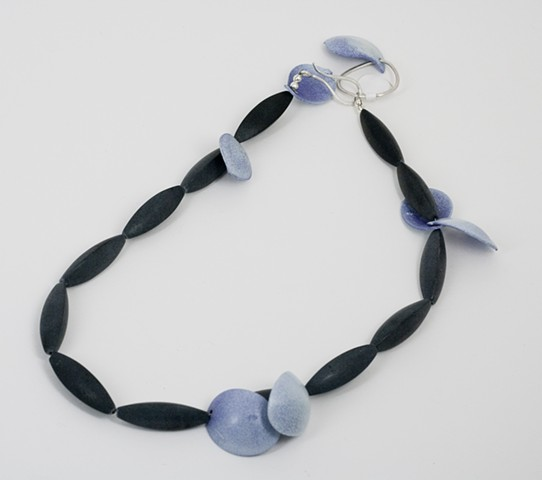 Purple, White and Onyx Neckpiece