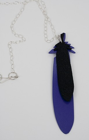 Purple and Black Feather Neckpiece