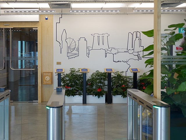 Merryn Trevethan Facebook Office murals Singapore