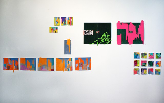 Works on paper created during residency in New York by Merryn Trevethan