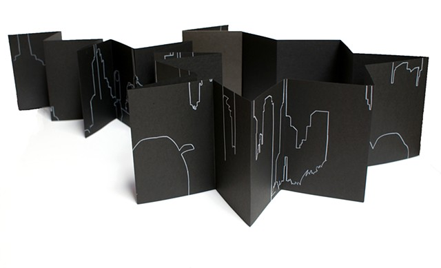 news feed concertina artist books by Merryn Trevethan