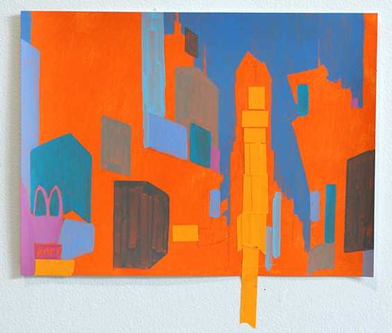 Painting of Times Square by Merryn TRevethan