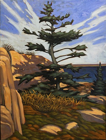 Plein air painting by Nathaniel Meyer