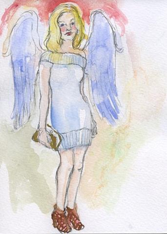 Angel in a Sweater Dress