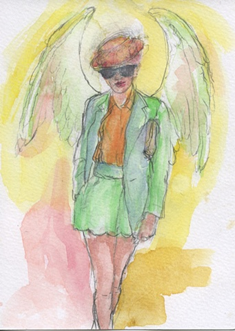 Angel in a Straw Hat