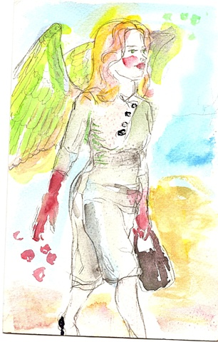 Angel with Red Gloves