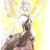 Black Chiffon Angel