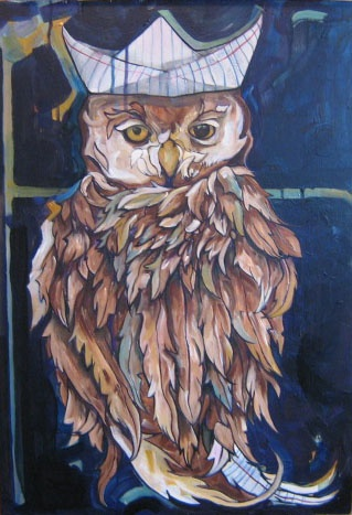A Paper Hat Owl