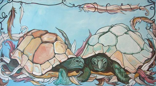 Two Souls Turtle Print