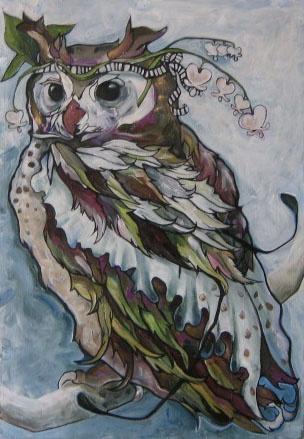 White Bleeding Hearts Owl.