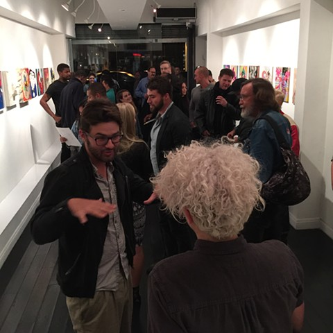 Opening Night Stone Malone Gallery Hollywood, CA.