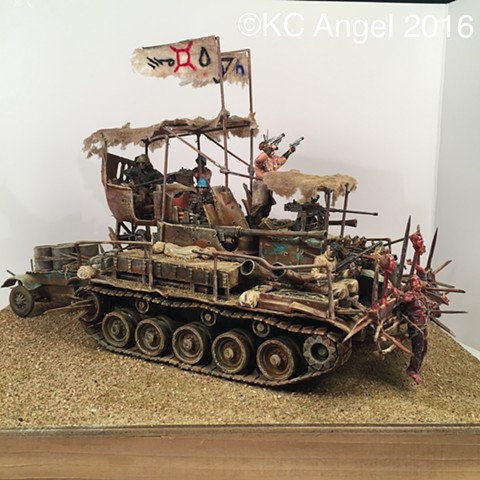 "Kit Bash/ Scratch Built  post apocalyptic ""Mad Max"" vehicle"