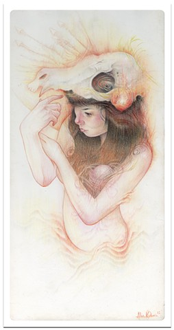 melodic melody 2013 colored pencil 6 x 12  prints