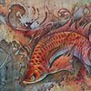 fish food 2012 colored pencil/ink 5 x 10  prints