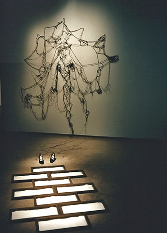 art installation memory mixed media sculpture communication zen video feminist