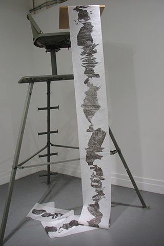 nature sumi ink memory abstract process performance time public art