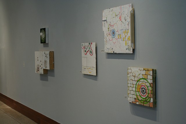 Installation view of solo exhibit at Georgetown College