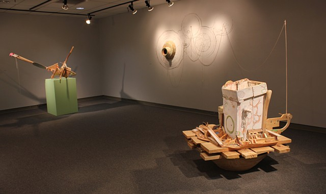 Installation view of solo show at Union University