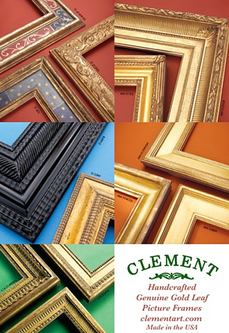 Introduction our line of Handcrafted Genuine Gold Leaf Picture Frames! Each frame is handmade & gilded in the USA.