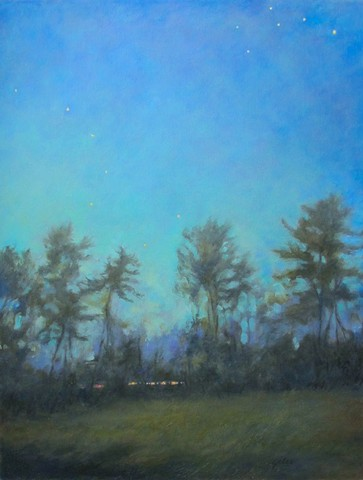 An astronomy oil painting of big dipper at night by Gail Giles