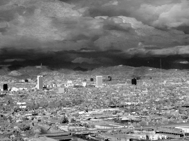 Central Los Angeles seen From Baldwin Hills (Infrared)