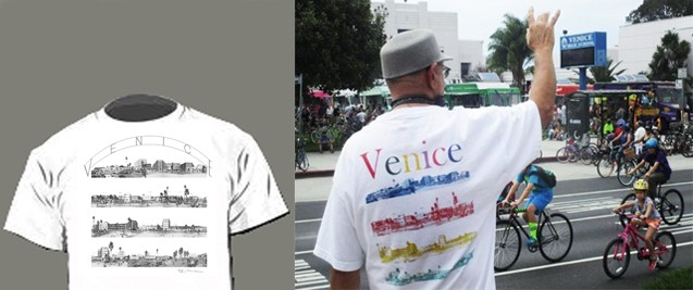 Venice Boardwalk T-Shirt black & white and color