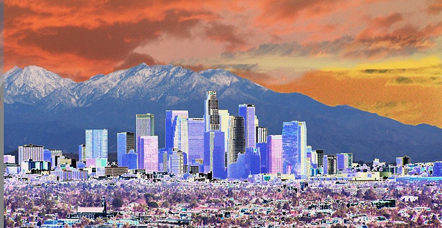 Solar Los Angeles 1/1/2011 a surreal image of Downtown Los Angeles by Richard Mann