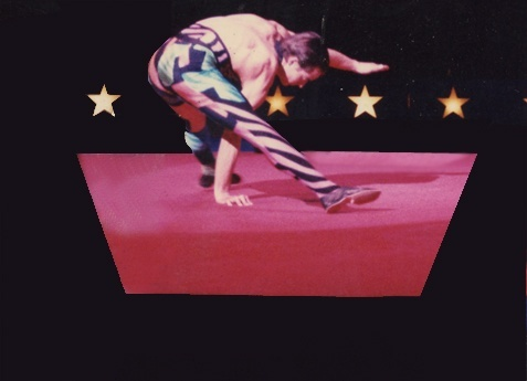 Cirque Du Soleil (circa 1985) Hand balancing photo by Richard Mann