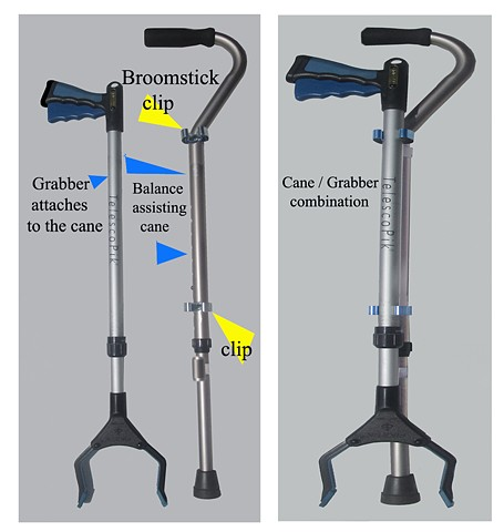 Cane / Grabber invention by Richard Mann